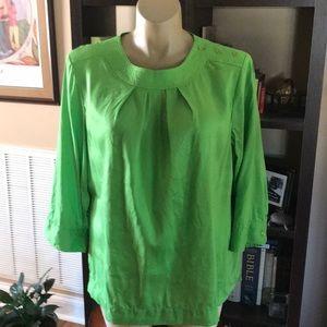 Talbots 22W Green Tunic